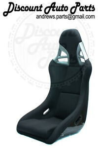 Porsche 997 Style Gt3 Seats In Black Cloth W Black Frp Backing Rsr Cup Gt Pair