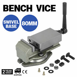 80mm Precise Bench Base Clamp Swiveling Vice Milling Machine Clamping Vise 360