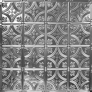 24x24nail Up Tin Ceiling Tile Pattern 3 5 Pack Brushed Satin Nickel Home