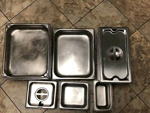 Lot Of 15 Pieces Stainless Steel Steam Table Pan s Lids
