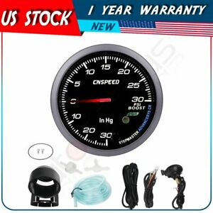 Universal 2 5 60mm Turbo Boost Gauge Psi Type Black Face Auto Car Meter sensor