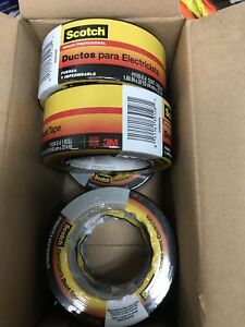 100 Rolls 3m Scotch Electrician s Performance Duct Tape 2 In X 30 Yds Gray