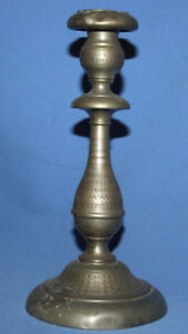 Antique Art Deco Pewter Candlestick Candle Holder