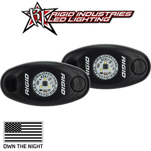 Rigid Industries A Series Black Flush Mount Red Low Power Led Lights Pair