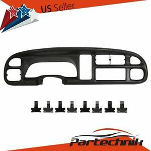 Dash Instrument Cluster Board Bezel Replacement Cover For 1998 2001 Dodge Ram
