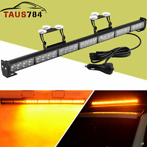 32 28led Strobe Light Bar Car Truck Hazard Emergency Warning Windshield Flash