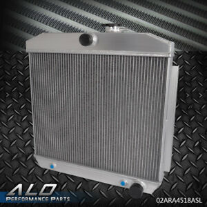 Full Aluminum Cooling Radiator For Chevy Bel Air V8 W Cooler 1955 1956 1957