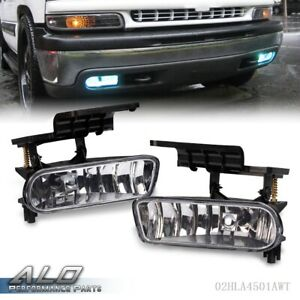 For 99 02 Silverado 00 06 Suburban Replacement Clear Fog Light Lamp