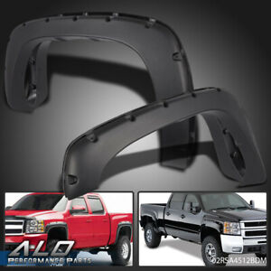 Pocket Style Bolt On Rivet Fender Flares Textured For 99 06 Chevy Silverado Gmc