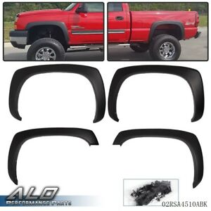 Fit For Gmc Sierra Chevy Silverado 99 07 Matte Factory Style Fender Flares