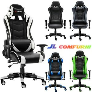 Jl Comfurni Rocking Racing Gaming Chair Ergonomic Computer Office Chair Swivel