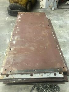 1960 Pittsburgh Steel Plates For Road Construction Or Fabrication 500 Each
