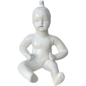 Mn 538 Glossy White Abstract Sitting Baby Toddler Mannequin 6 9 Months