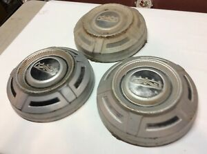 1972 1973 1974 1975 1976 1977 Ford Truck Hubcaps Dog Dish Original Painted 3