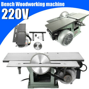 220v Steel Multifunctional Bench Woodworking Machine For Planing Sawing Drilling