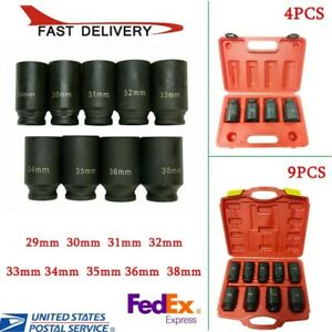 4 9 Pcs Deep Impact Socket Set 1 2 Drive Metric Axle Hub Nut Socket 29 38mm