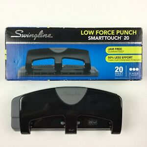 Swingline A7074133 3 Hole Punch Smarttouch Low Force 20 Sheets Punch Capac
