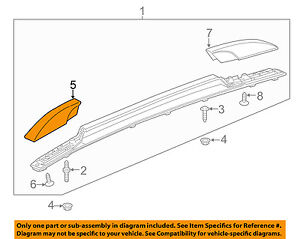 Chevrolet Gm Oem Trax Roof Rack Rail Luggage Carrier front Cover Right 95072631