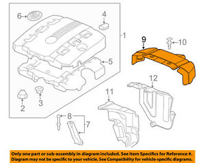 Gm Oem Engine Appearance Cover Rear Insulator 12639005