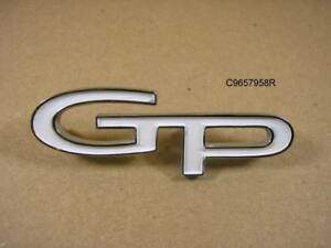1967 1968 Pontiac Grand Prix Trunk Emblem New C9657958r