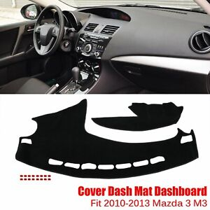 Dashboard Cover Dashmat Dash Anti Sun Mat Pad Cover Fit 2010 2013 Mazda 3 M3