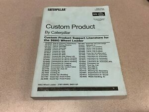 Used Caterpillar Custom Product Support Literature For 988g Wheel Loader book
