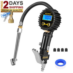 Digital Tire Inflator With Gauge 200 Psi Heavy Duty Air Compressor Accessories