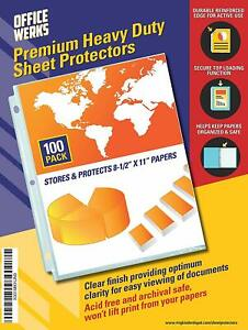 Heavy Duty Clear Sheet Protectors 8 5 X 11 100 Pack