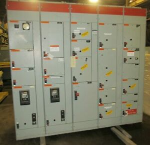 Ge 8000 Line Mcc 2000 Amp Section Motor Control Center 3712pa