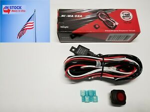Nilight Off Road Led Light Bar Wiring Harness Kit With On Off Switch 2 Leads