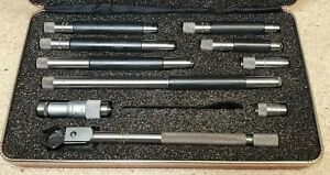 Starrett No 823 Inside Micrometer 1 1 2 To 12 With Protective Case