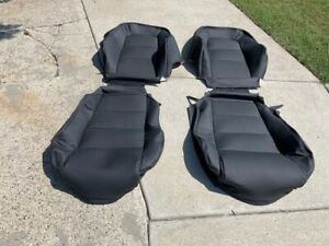 Porsche 911 912 76 84 Seat Kit New Upholstery Black Kit German Vinyl Beautiful