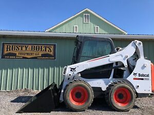 2014 Bobcat S530 Skid Steer Loader Enclosed Cab Heat Only 833 Hours Cheap Ship