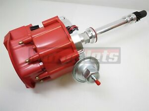 Small Big Block Chevy V8 Hei Ignition Distributor Hot Rod Red Top Cnc Machined