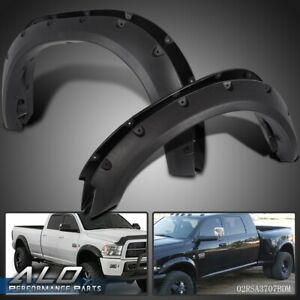 For 2010 2017 Dodge Ram 2500 3500 Black Pocket Style Rivet Bolt On Fender Flares