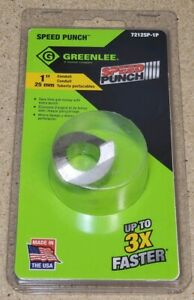 Greenlee 7212sp 1p 1 Conduit Speed Punch Knockout new