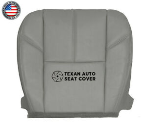 2013 2014 Chevy Silverado 1500 Ls Ltz Driver Side Bottom Leather Seat Cover Gray