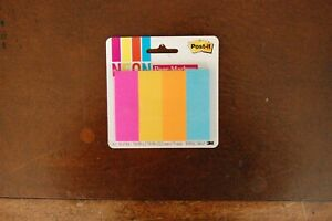 Post it Page Markers Assorted Bright Neon Colors 4 Pads 671 4neon