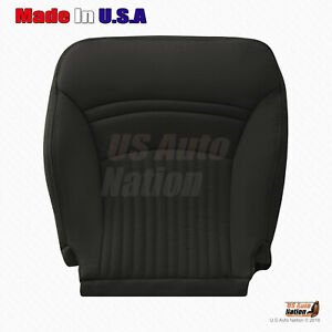 1997 2004 Chevy Corvette Sport Driver Bottom Perforated Leather Seat Cover Black
