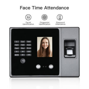 Biometric Intelligent Face Time Attendance Recognition Time Clock Usb ethernet