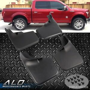 Front Rear Set Splash Mud Guards Flaps For 04 14 Ford F 150 W Fender Flares