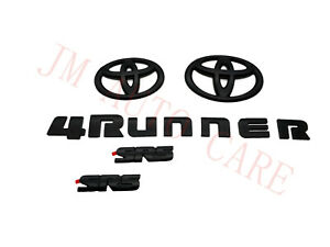 Overlay New 2014 2020 Toyota 4runner Sr5 Maatte Black Out Emblem Kit 5 Pcs