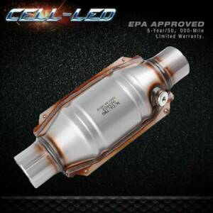 Catalytic Converter Universal 2 Inlet Outlet O2 Port With Heat Shield Epa Obdii