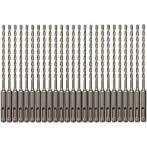25pcs Sds Plus 5 32 X6 Rotary Hammer Concrete Masonry Drill Bit Carbide Tip