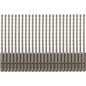 25pcs Sds Plus 3 16 X6 Rotary Hammer Concrete Masonry Drill Bit Carbide Tip