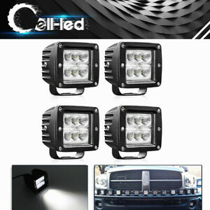 4x3inch 240w Cree Flood Led Work Light Cube Pods Driving Work Fog Light Offroad
