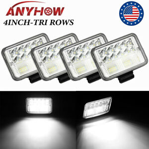 4pcs 4inch 720w Led Spot Beam Cube Cree Fog Work Lights Pods Off Road Suv Atv