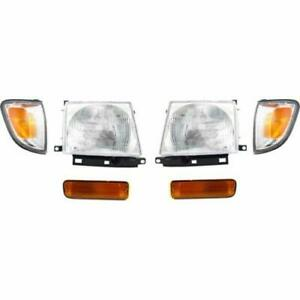 For Ty Tacoma 2wd 1997 1998 1999 2000 Headlight Corner Signal Lamp Set 6 Pc