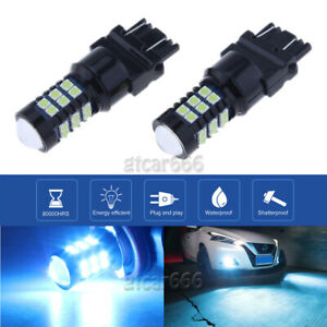 2x 3030smd Ice Blue Led Daytime Running Light Drl Bulbs 3157 3757 4114 4157 3156