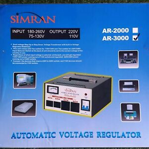 Simran Automatic Voltage Regulator Ar 3000